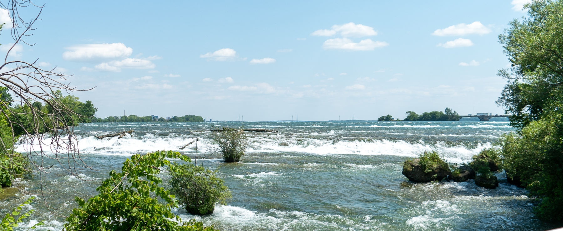Rapids from the three sisters islands