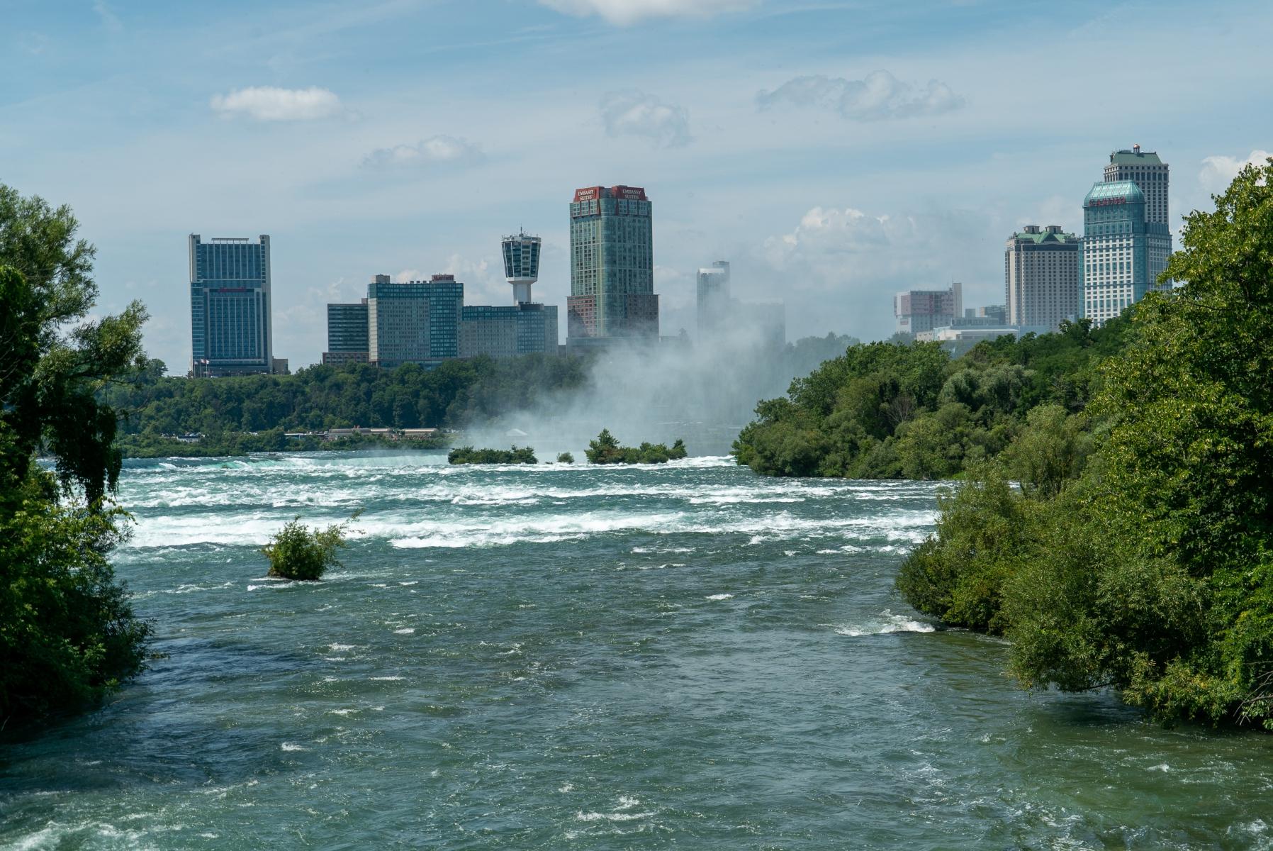 Mist from Niagara Falls